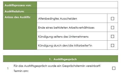 checkliste offboarding